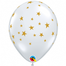 Contempo Stars Balloons (Clear) - 11 Inch Balloons 25pcs